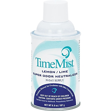 TimeMist ® Metered Fragrance Dispenser Refill, Lemon Lime, 6.6 oz. Aerosol Can