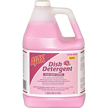 Ajax Pink Rose Dish Detergent, 1 gal Bottle