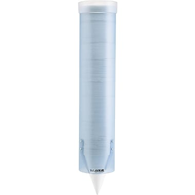 San Jamar  Water Cup Dispenser With Removable Cap, Frosted Blue, Holds 4 To 10 oz. cups