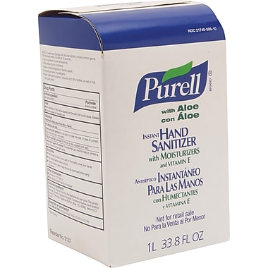 Purell Advanced Instant Hand Sanitizer NXT  With Aloe, Fragrance-Free, Clear, 1000 ml Refill