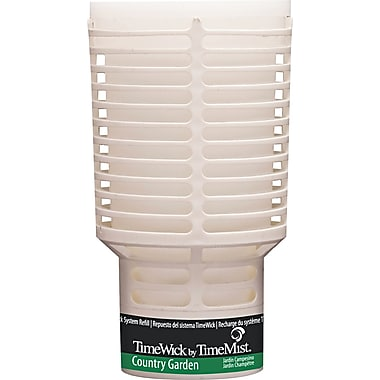 TimeMist  TimeWick Air Dispenser, Country Garden, Clear, 1.217 oz. Refill