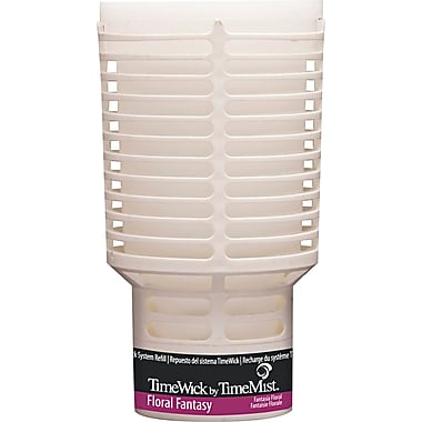 TimeMist  TimeWick Air Dispenser, Floral Fantasy, Clear, 1.217 oz. Refill
