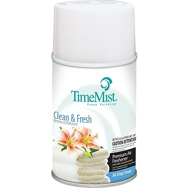 TimeMist Metered Fragrance Dispenser Refill, Clean N Fresh, 6.6 oz. Aerosol Can