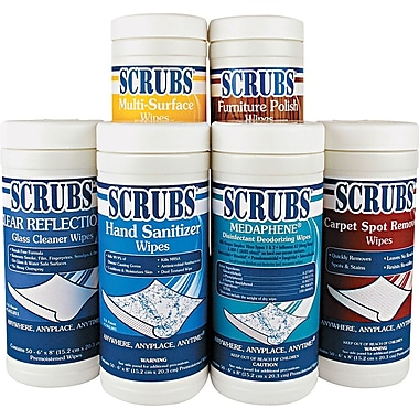 Scrubs 6 Pack of Cloth Wipe, 6
