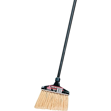 O-Cedar  Commercial Maxi-Angler  Broom, Polystyrene Bristles, 51in. Aluminum Handle, Black