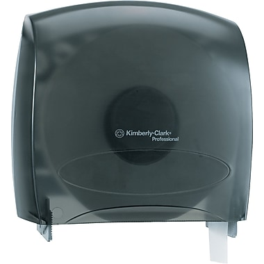 Kimberly-Clark In-Sight Plastic JRT Jr. Jumbo Tissue Dispenser, Smoke/Gray, 10.6in.(H) x 10.8in.(W)