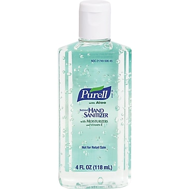 Purell® Instant Hand Sanitizer, Fragrance-Free, Clear, 4 oz. Flip Top Bottle