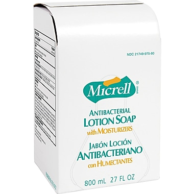 Micrell Antibacterial Hand Soap, Unscented, Refill, 800 ml