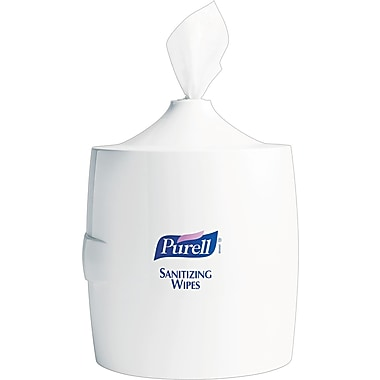 Purell® Plastic Sanitizing Wipes Wall Mount Dispenser, White