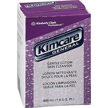 Kimberly-Clark Kimcare Lotion Skin Cleanser Refill, Floral, 800ml, 12/Case (91211)