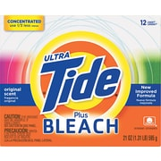 Tide® Ultra Laundry Detergent With Bleach, Original Scent, 21 oz. Box