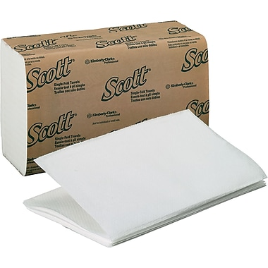 Kimberly-Clark® Scott Single Folded Paper Towel, Unscented, White, 4,000/Case