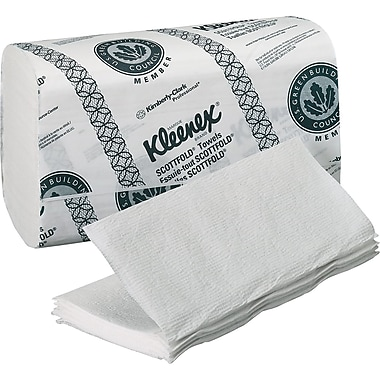 Kimberly-Clark Kleenex C-Fold / Multi Folded Paper Towel, Unscented, White, 3,000 / Case
