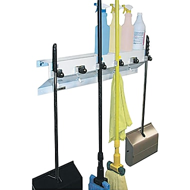Ex-Cell Mop & Broom Holder, White Gloss, 7 1/2