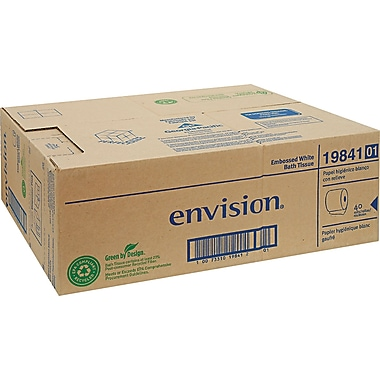 Envision Embossed Bathroom Tissue, 1-Ply, 40 Rolls/Case