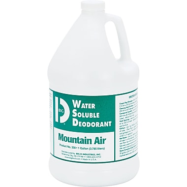 Big D Industries Water-Soluble Deodorant , Mountain Air , 1 gal.
