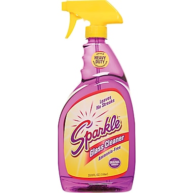 Sparkle Glass Cleaner, Unscented, 33.8 oz. Trigger Bottle
