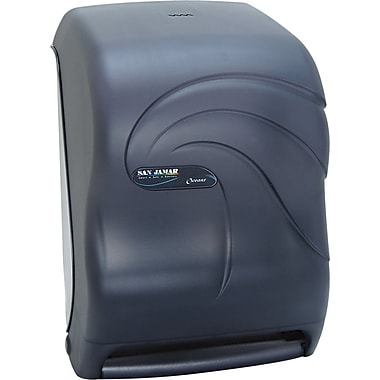 San Jamar Oceans Tear-N-Dry Electronic Touchless Plastic Towel Dispenser, Black Pearl, 15 1/2