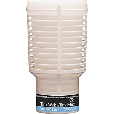 TimeMist  TimeWick Air Dispenser, Sundried Linen, Clear, 1.217 oz. Refill