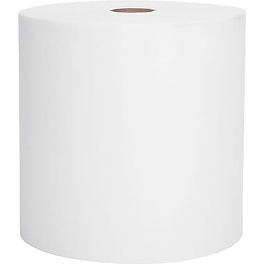 Kimberly-Clark Scott Recycled Hard Paper Towel Roll, 1-Ply, White, 8in.(W) x 800'(L)