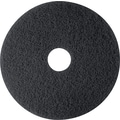 3M Black Stripper Floor Pad 7200, Black, 12in.(Dia), 5/Ctn