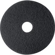 "3M Black Stripper Floor Pad 7200, Black, 12""(Dia), 5/Ctn"