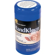 "Read Right HandKleen Cloth Premoistened Wipe, 5 1/2""(W) x 6 1/2""(L), 70/Tub"