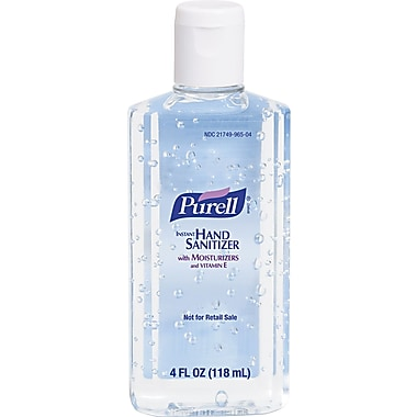 Purell® Instant Hand Sanitizer, Unscented, Clear, 4 oz. Flip-Cap Bottle