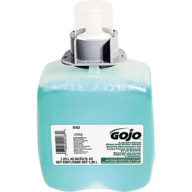 GOJO Luxury Foam Hair & Body Wash Soap, Cucumber Melon, 1250 ml Refill