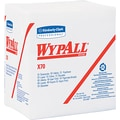 Kimberly-Clark  Wypall  X70 Hydroknit Wipe, Unscented, White, 13in.(W) x 12 1/2in.(L)