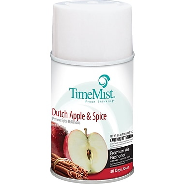 TimeMist Metered Fragrance Dispenser Refill, Dutch Apple & Spice, 6.6 oz. Aerosol Can