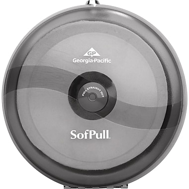 SofPull Centerpull Plastic Tissue Dispenser, Smoke/Gray, 10 1/2
