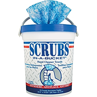 Scrubs® Cloth Hand Cleaner Towel, Citrus, 6 Tubs/Case