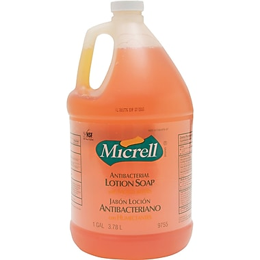 Micrell Antibacterial Hand Soap, Unscented, 1 gal., 4/Case