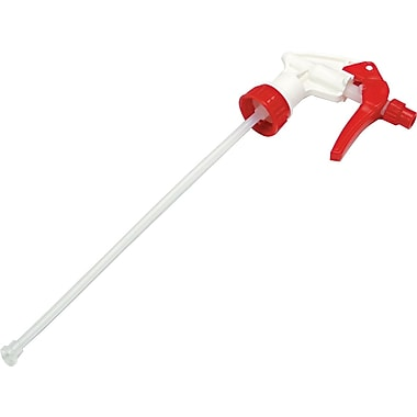 Unisan 9-1/2in. Standard Trigger Sprayer, Red/White, Fits 32 oz. bottle