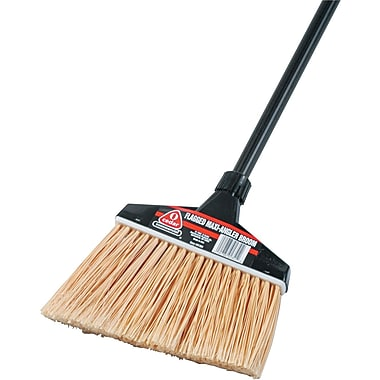 O-Cedar Commercial Maxi-Angler Broom, Polystyrene Bristles, 51in. Aluminum Handle, Black, 4/Ctn