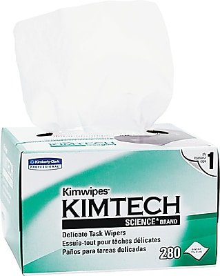Kimtech Science Delicate Task Wipe Unscented 280 Wipes Box