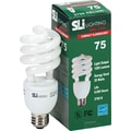 20 Watt SLI Mini Lynx T3 Spiral CFL Light Bulb , Soft White