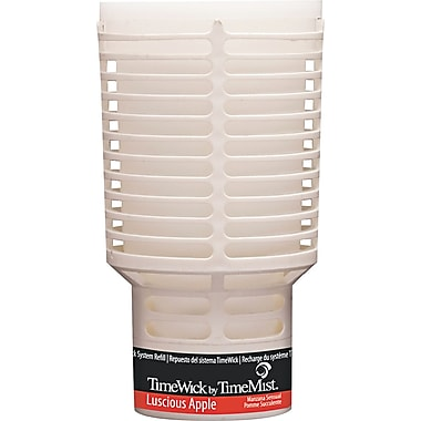TimeMist  TimeWick Air Dispenser, Luscious Apple, Clear, 1.217 oz. Refill