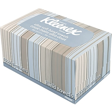 KLEENEX® Ultra Soft Hand Towels, POP-UP Box, White, 70/Box