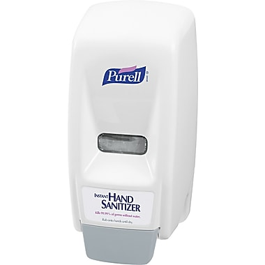 Purell Plastic Bag-In-Box Hand Sanitizer Dispenser, White, 800 ml, 11in.(H) x 5 5/8in.(W) x 5 1/8in.(D)