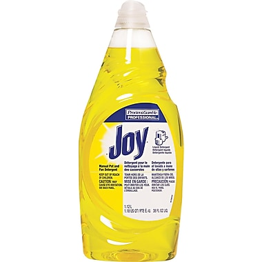 Joy Dishwashing Liquid, Lemon, 38 oz. Bottle
