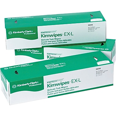 Kimberly-Clark ® Kimtech Science ® Kimwipes ® Task Wipe, Unscented, White, 16.6in.(W) x 14.7in.(L)