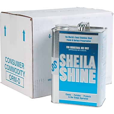 Sheila Shine Stainless Steel Cleaner & Polish, 1 gal., 4/Case