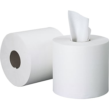 Scott® Center Pull Paper Towels, White, 1-Ply, 4 Rolls/Case