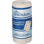 "Envision Jumbo Perforated Paper Towel Roll, 2-Ply, Brown, 11""(W) x 8 4/5""(L), 12/Ctn"