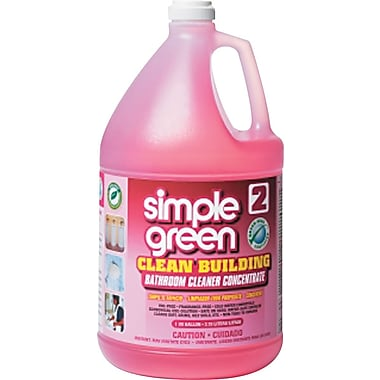 Simple green  Clean Building™ Bathroom Cleaner Concentrate, Unscented, Simple green, 1 gal Bottle