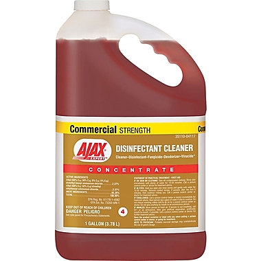 Ajax Expert™ Disinfectant Cleaner, Unscented, 1 gal., 2/Case