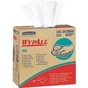 Kimberly-Clark  Wypall  X60 Hydroknit Wipe, Unscented, White, 9 1/10(W) x 16 4/5(L)