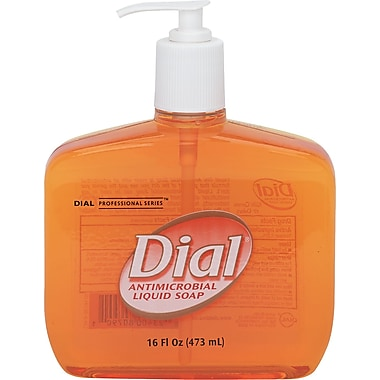 Dial Liquid Antimicrobial Soap, Floral, 16 oz.